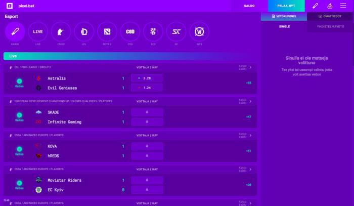 pixel.bet esport